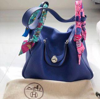 Hermes Lindy 30 Blue Electric