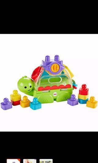 Fisher Price Little Stackers Sort 'n Spill Turtle