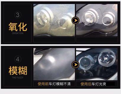 汽車大燈修復液燈罩划痕修復拋光工具套裝自噴車燈翻新速亮鍍膜液 大燈 車燈
