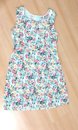 Floral pattern skater dress knee length #SNAPENDGAME