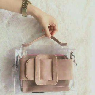 Hand bag and sling Transparant