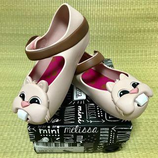 🚚 BN Mini Melissa Ultragirl VI Light Pink Squirrel Shoes US10 (2017)