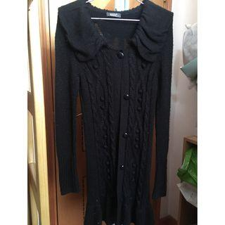 Wanko 針織長外套8成新,原價399, Free Size