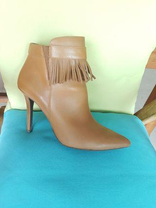 Brown Heels Ankle Boots