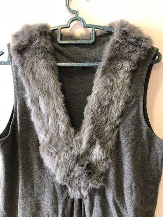 Faux fur top/dress