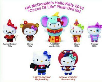 🚚 CIRCUS OF LIFE hello Kitty CHIMP & MAGICIAN