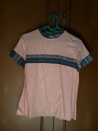 Peach Batik Top