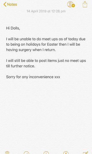 No meet ups till further notice x