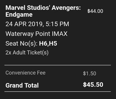 🚚 Avengers end game Imax