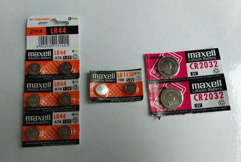 全新Maxell 水銀電池 Lithium Battery CR2032 LR44 LR1130