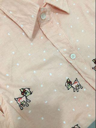 Pink reindeer top in good quality