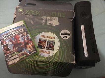 Xbox 360 120gb with 2 games - no controller