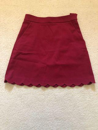 Cos Red Pocket Skirt