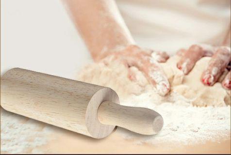 🚚 1個20厘米木質小號擀麵杖 櫸木/20cm