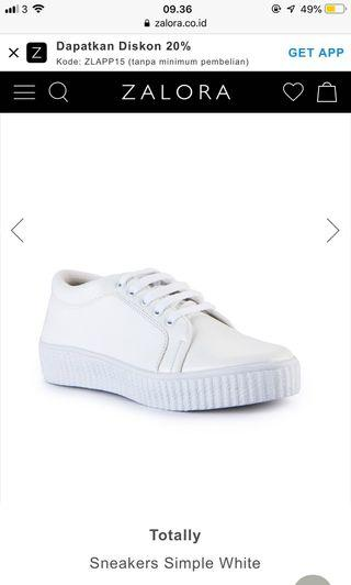 totally white sneakers