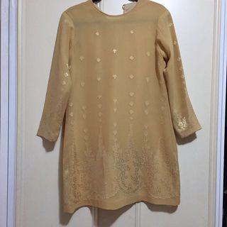 Vintage 3/4 Sleeve Shift Dress