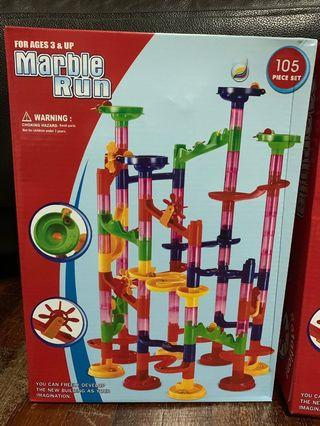 (New) Marble Run 105 Pieces Educational Kids Toy