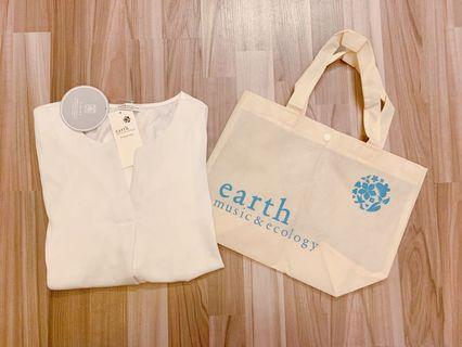 Earth Music 日本雪紡恤衫 Japanese brand blouse