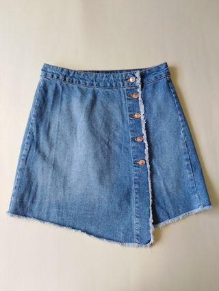 ZARA BASIC Denim Skirt