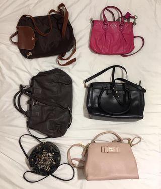 🚚 Longchamp (NA), Pink Coach, Esprit, Katespade, Bali Rattan Bag, Samantha Vega