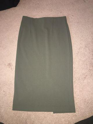 Selling olive green dynamite skirt