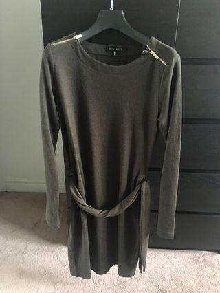 Selling dynamite dress in olive green small size