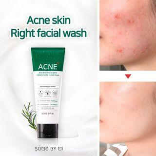SOME BY MI AHA BHA PHA 30 DAYS MIRACLE ACNE CLEAR FOAM CLEANSER 100ML [EXP 2022 MARCH]