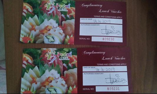 Irodori Japanese buffet lunch voucher