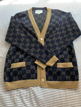 Gucci Gold And Navy Cardigan XS BNWOT