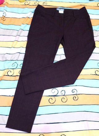 🚚 古著 MY de GIRL 咖啡色 格紋 直筒褲 長褲 休閒褲 復古 中腰