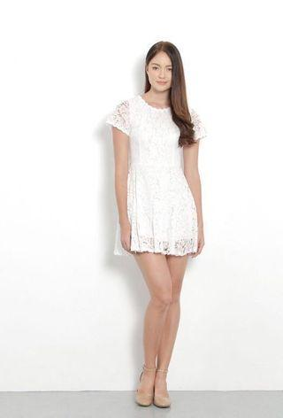 Jardin Lace Dress (White) (BN)
