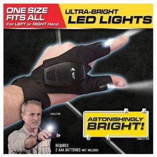 👍👍HANDS-FREE Mens glove with Ultra bright LED With adjustable Strap for Emergency/Working in the dark. Usual Price:$39.90 Special Price: $19.90+Free Postage Mail. (Brand New and sealed)