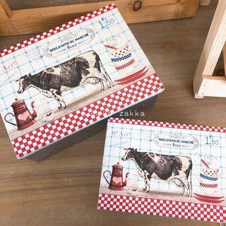 🚚 簡單雜貨-美式鄉村牛乳造型鐵盒/收納盒/糖果盒