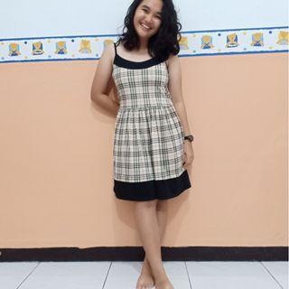 Square Pattern Dress