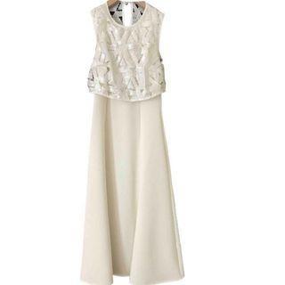 Self Portrait White Mid Length Dress