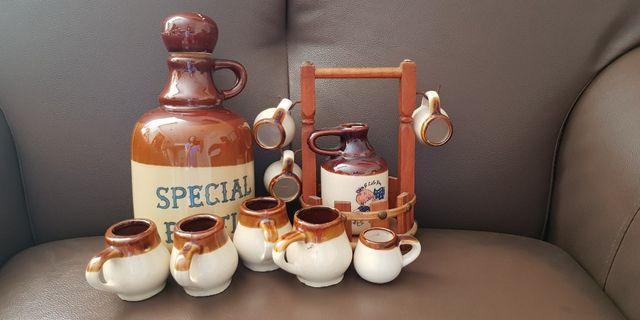 Ceramic made bottles and cups