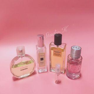 🚚 香水分裝Jo Malone Dior Chanel 噴霧玻璃瓶