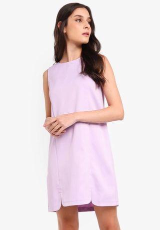 Zalora U slits detail shift dress