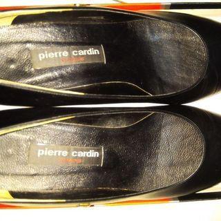 2雙一起賣,皮爾卡登真皮中跟鞋加軟合成皮中跟鞋