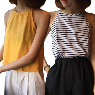 🌟BNWT Mango Yellow Halter Neck Summer Top