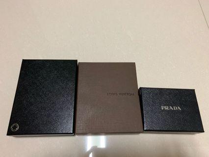 🚚 Authentic Mont Blanc, Louis Vuitton, Prada box