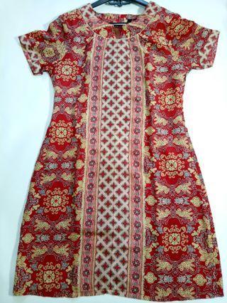 Dress Batik Merah Adikusuma Size S