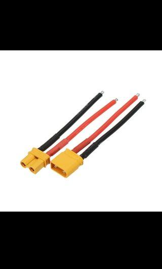 AMASS XT30 Connector with wire 10cm 12 14 16 18 20 22 AWG