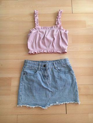 Denim mini skirt 😍