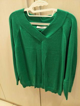 🚚 epanouir 綠色針織上衣