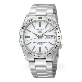 SEIKO / SNKD97K1 / SEIKO 5 / AUTOMATIC / MENS / 37 MM / 5ATM  / WHITE DIAL / STAINLESS STEEL STRAP