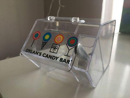 Mini candy bar box container