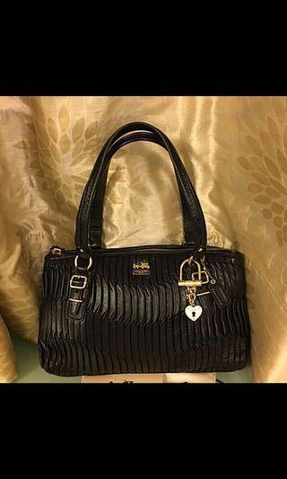 Coach small leather handbag