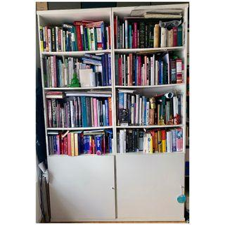 Book Cases white with Door (3 separate elements)