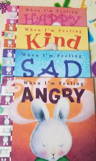 when I'm feeling angry and kind  happy English books 英文書4本